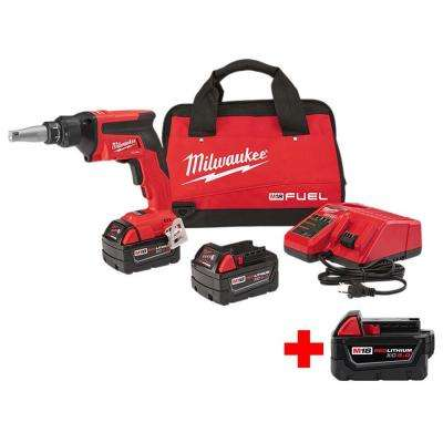 M18 FUEL 18-Volt Lithium-Ion Brushless Cordless Drywall Screw Gun XC Kit with Free 5.0AH Battery