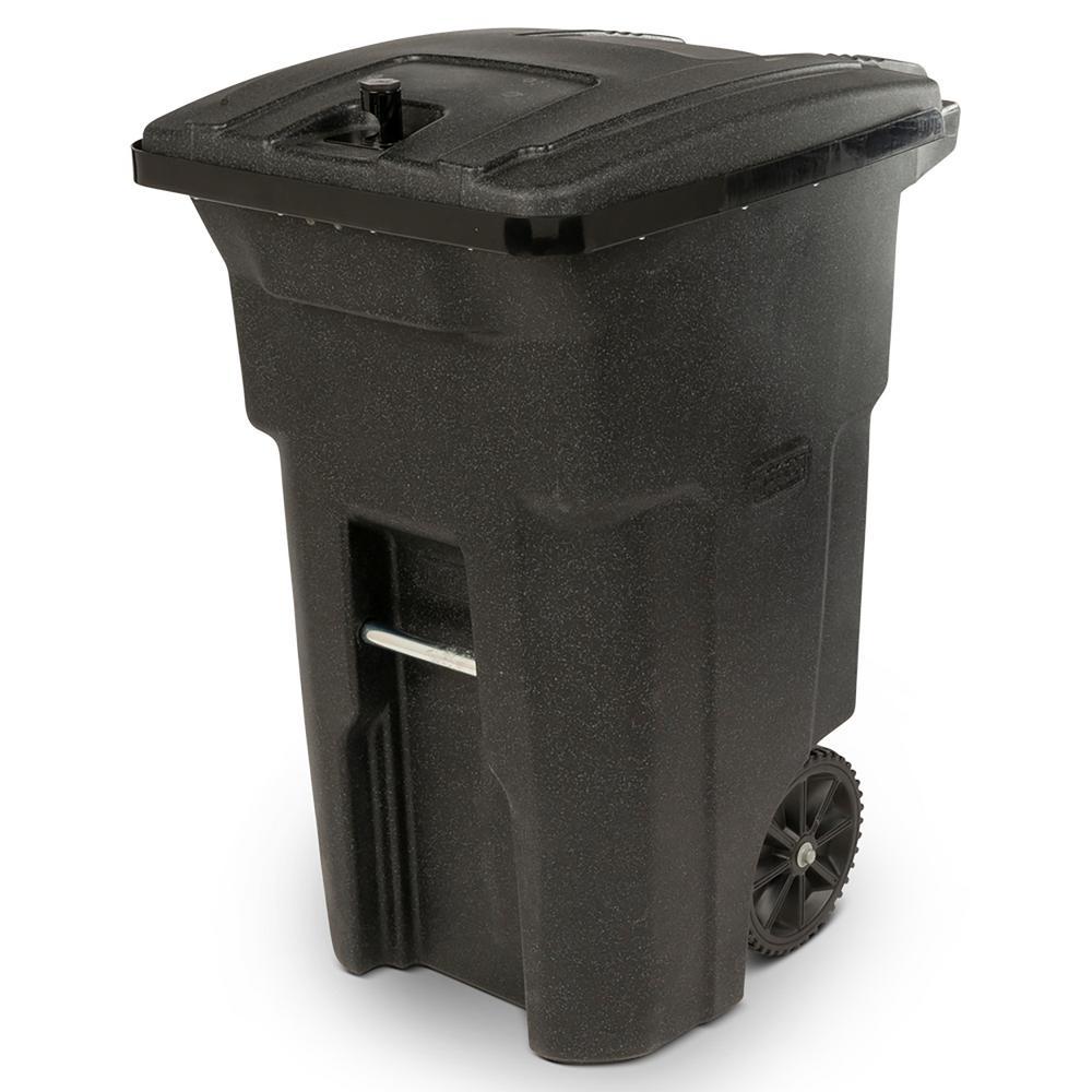 64 Gal. Black Bear-Tight Wheeled Trash Can