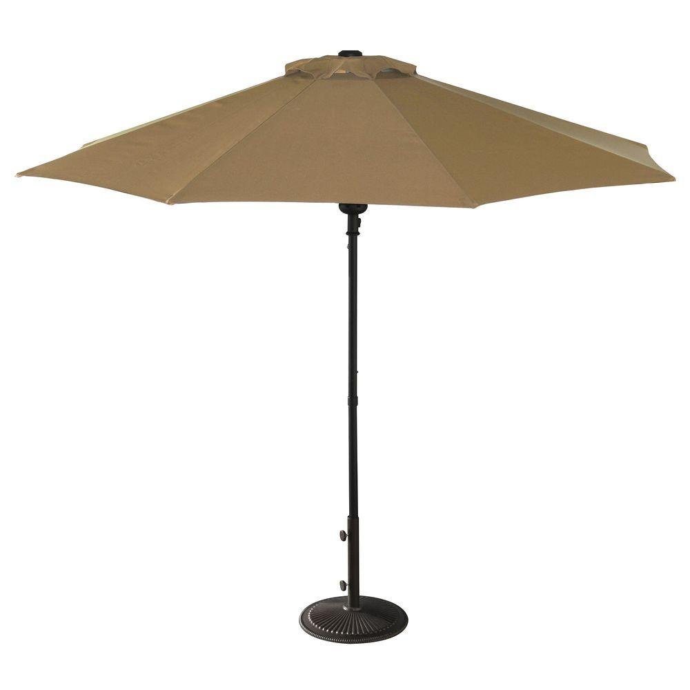 Octagonal Market Patio Umbrella In Stone Olefin