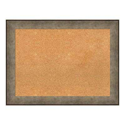 Pounded Metal Framed Cork Memo Board