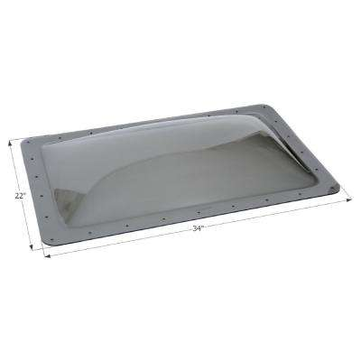 Skylight 16 in. x 24 in. x 5 in. Inner Dome
