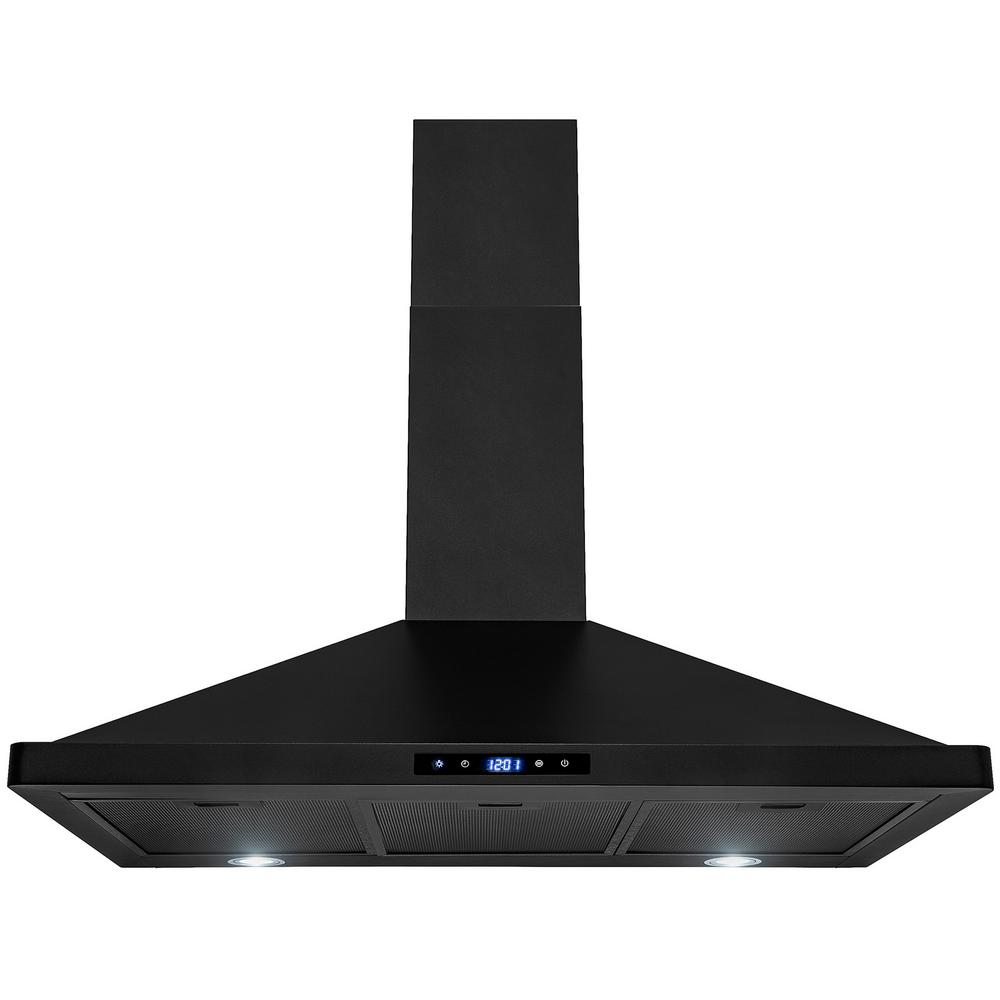 36 in. Convertible Kitchen Wall Mount Range Hood with Lights in