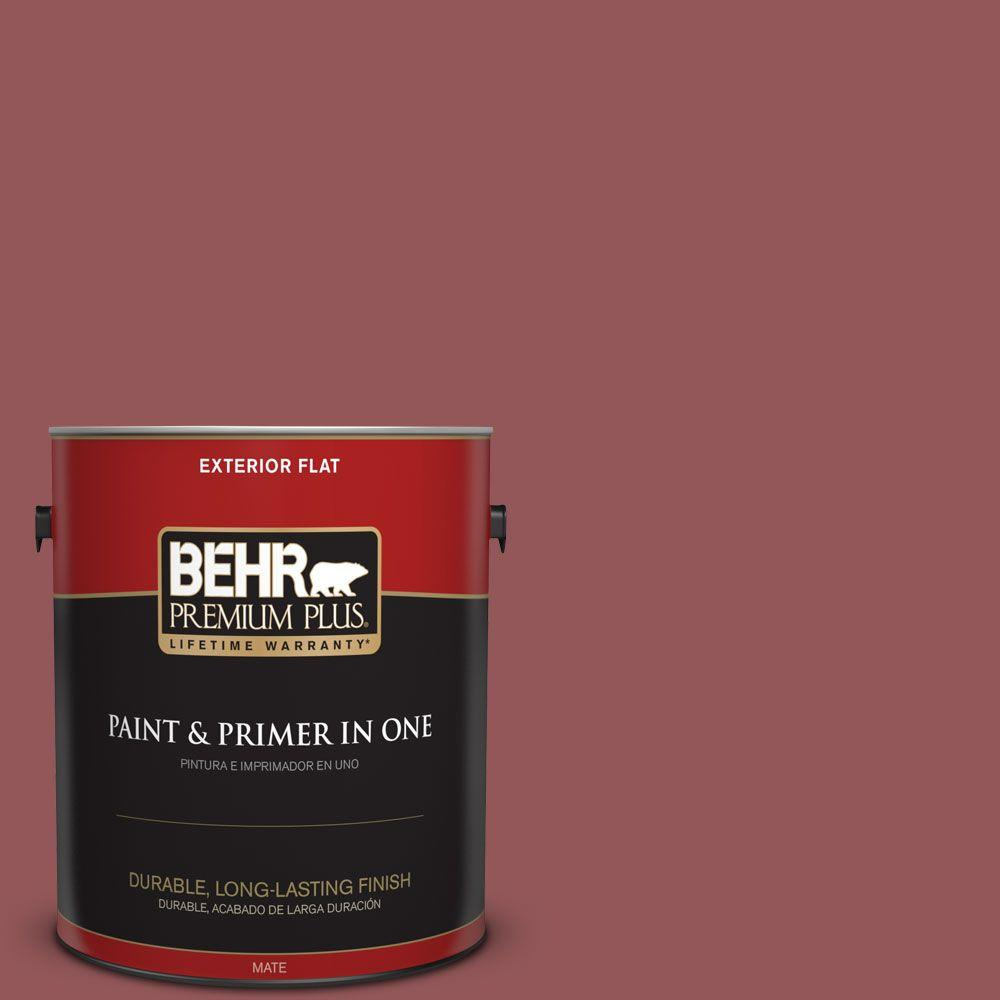 1-gal. #150F-6 Gallery Red Flat Exterior Paint