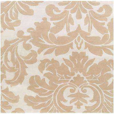 Bellaire Taupe 9 ft. 9 in. x 9 ft. 9 in. Square Indoor Area Rug