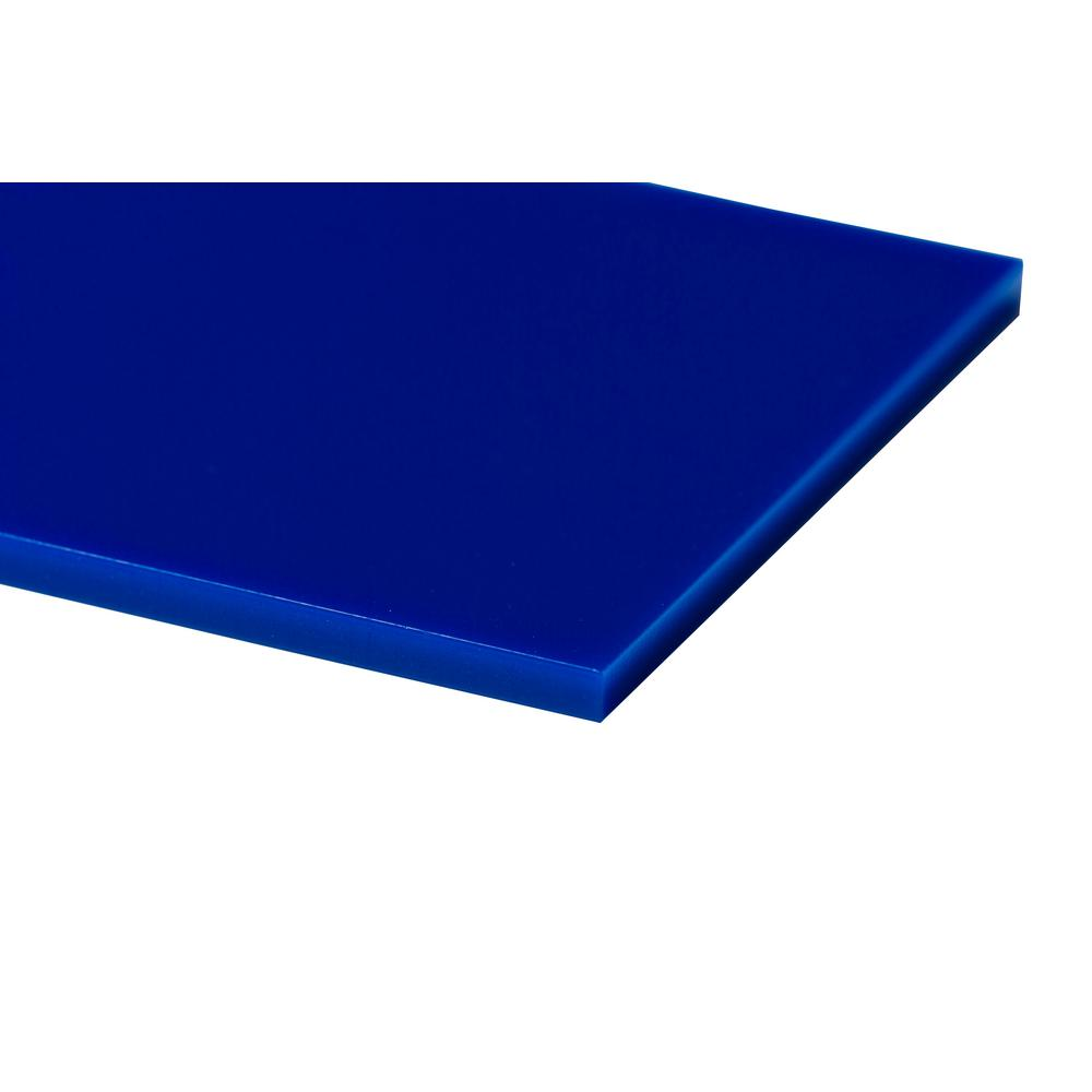 24 in. x 48 in. x 0.118 in. Blue Acrylic Sheet