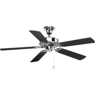 AirPro Collection 52 in. Indoor Polished Chrome Ceiling Fan