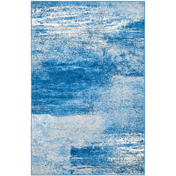 Adirondack Silver/Blue 6 ft. x 9 ft. Area Rug