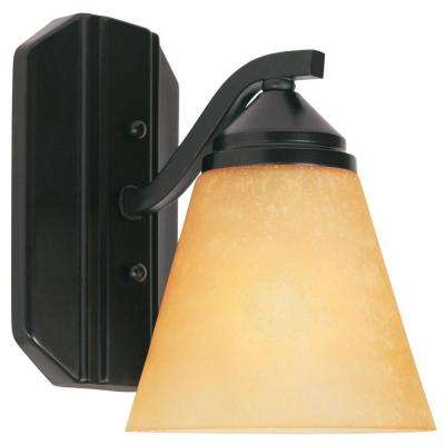 Holland Collection 1 Light Oil Rubbed Bronze Wall Mount Sconce