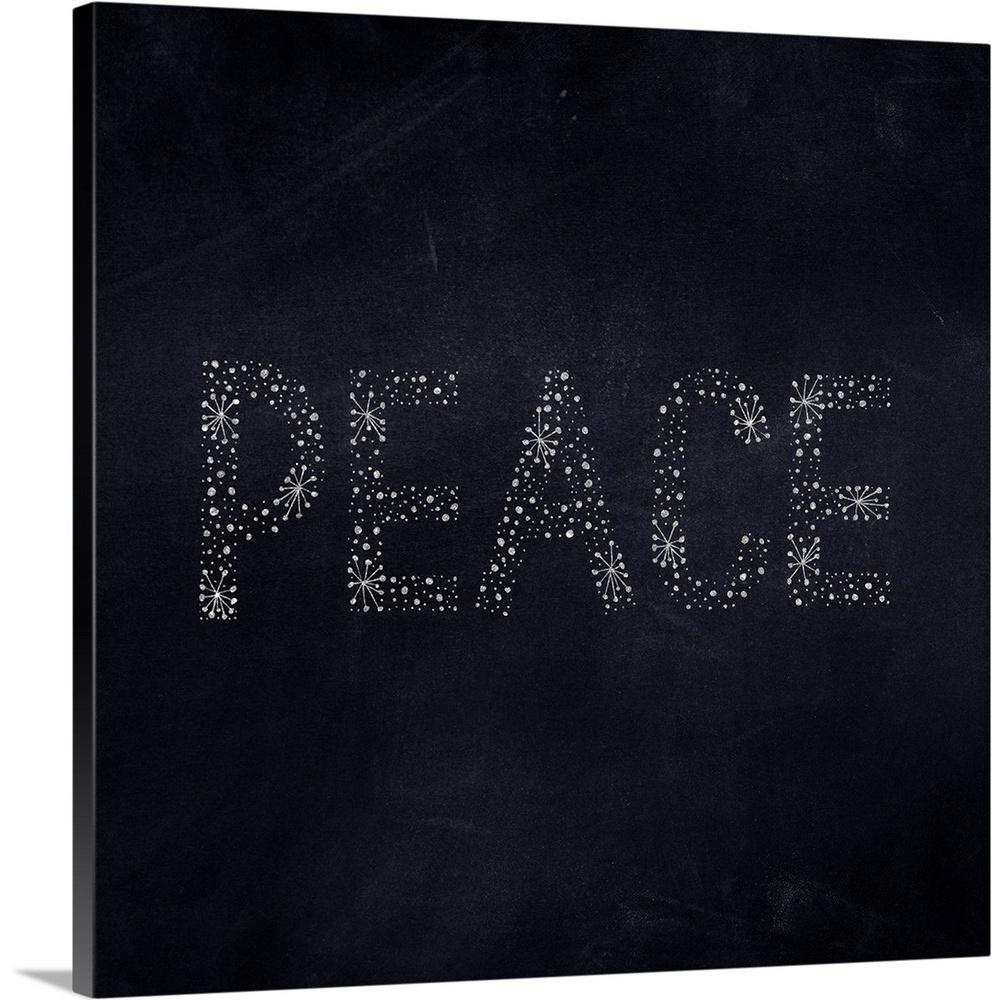 """Peace Starburst - Navy"" by Inner Circle Canvas Wall Art"