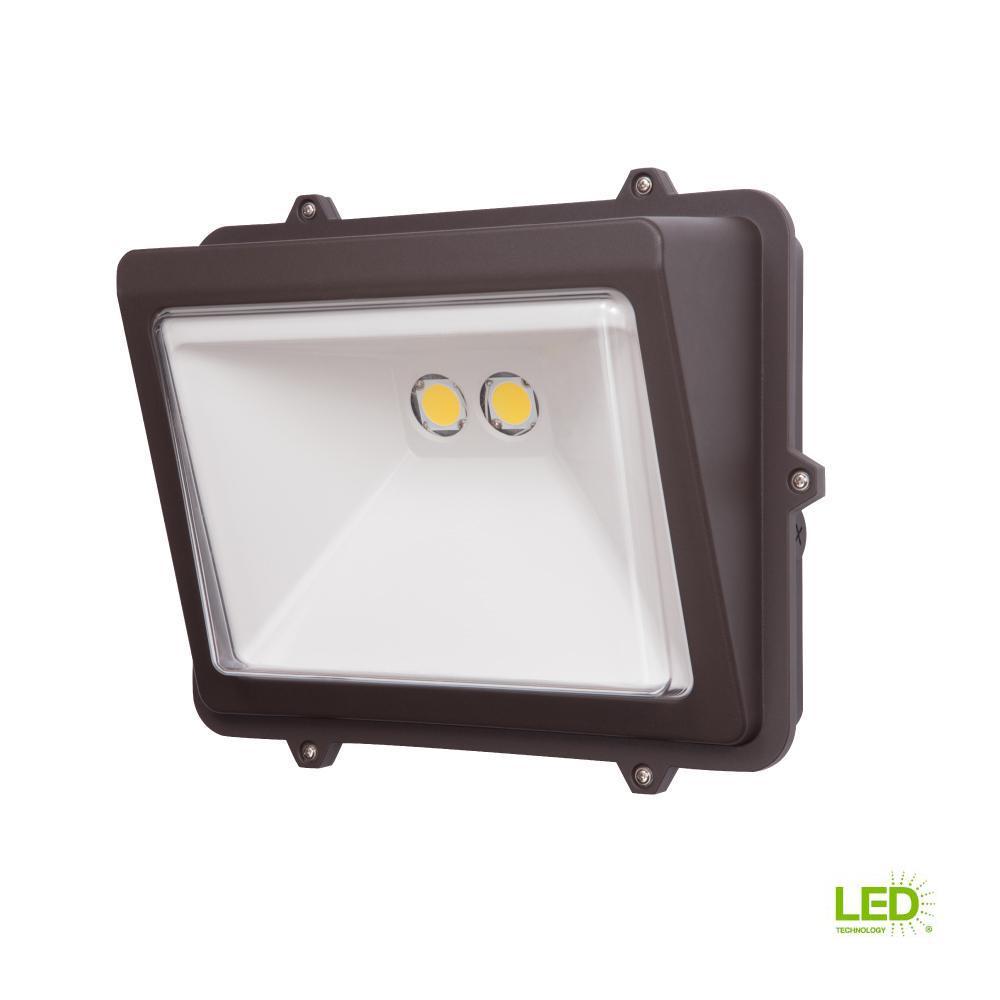 Halo 76-Watt Bronze Outdoor Integrated LED Wall Pack Light