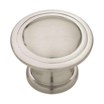 Ridge 1-3/16 in. (30mm) Satin Nickel Round Cabinet Knob