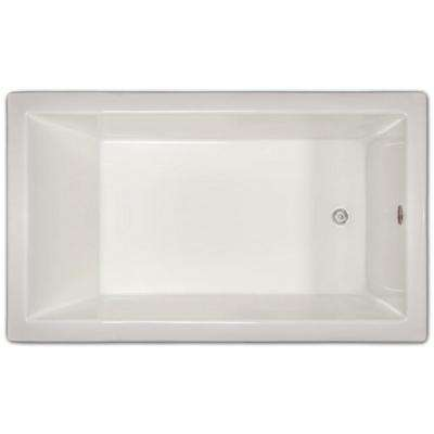 4.96 ft. Rectangular Drop-In Non-Whirlpool Bathtub in White