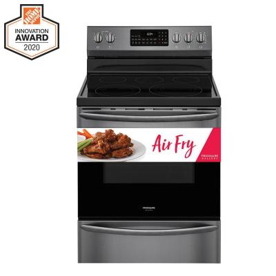 5.7 cu. ft. Electric Range with True Convection Self-Cleaning Oven in Black Stainless Steel with Air Fry