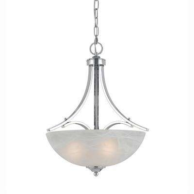 Berlin 3-Light Chrome Plated Finish Pendant