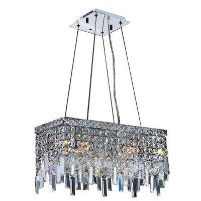 Cascade Collection 4-Light Crystal and Chrome Chandelier
