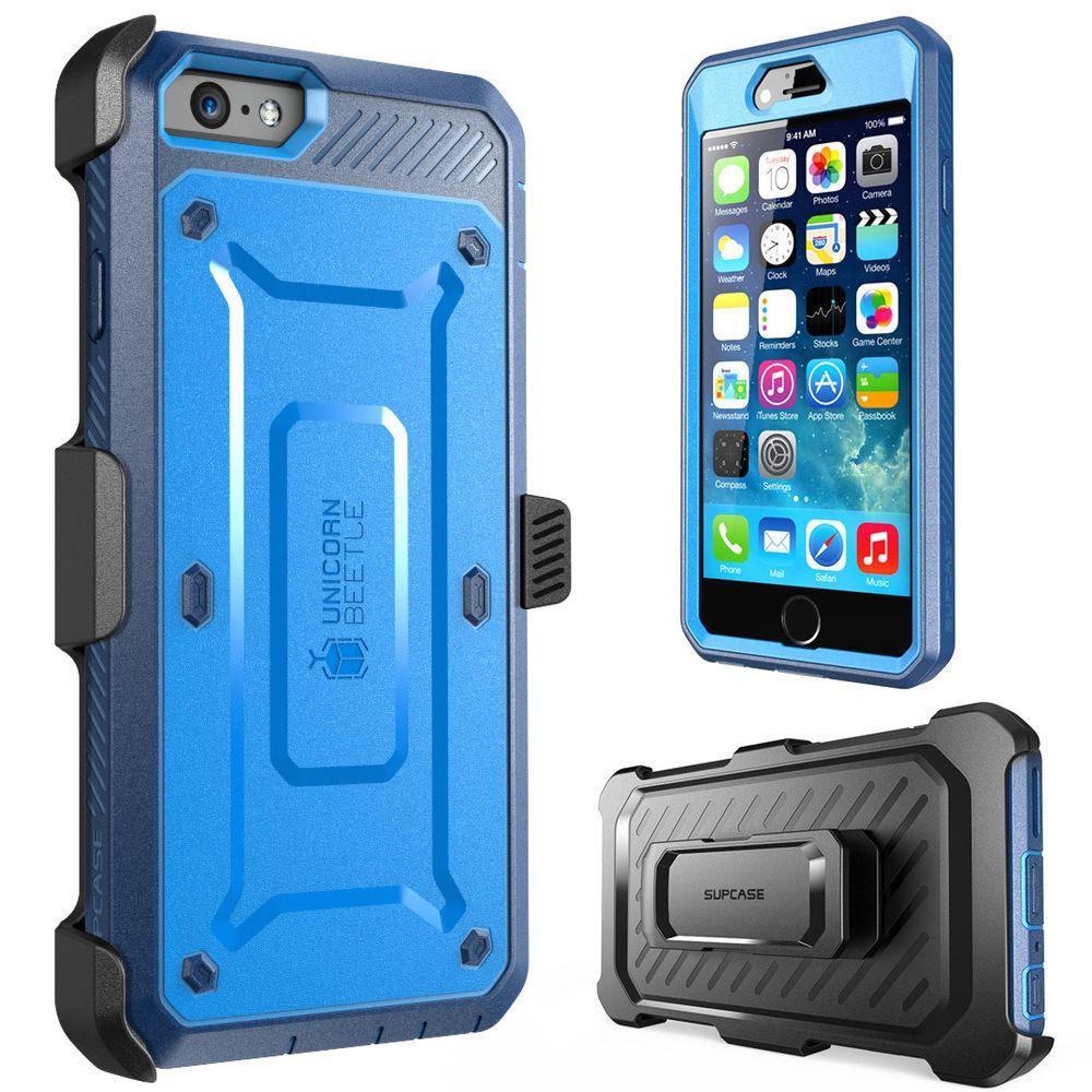 SUPCASE Unicorn Beetle Pro Full-Body Case for Apple iPhone 6/6S, Blue/Black