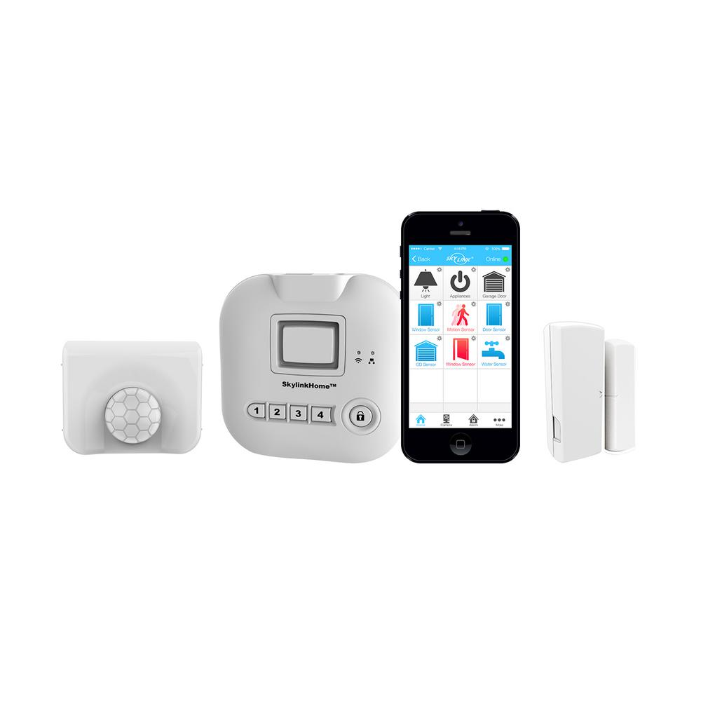 SkyLink Wireless Alarm, Security System Started Kit - Echo Alexa and IFTTT compatible