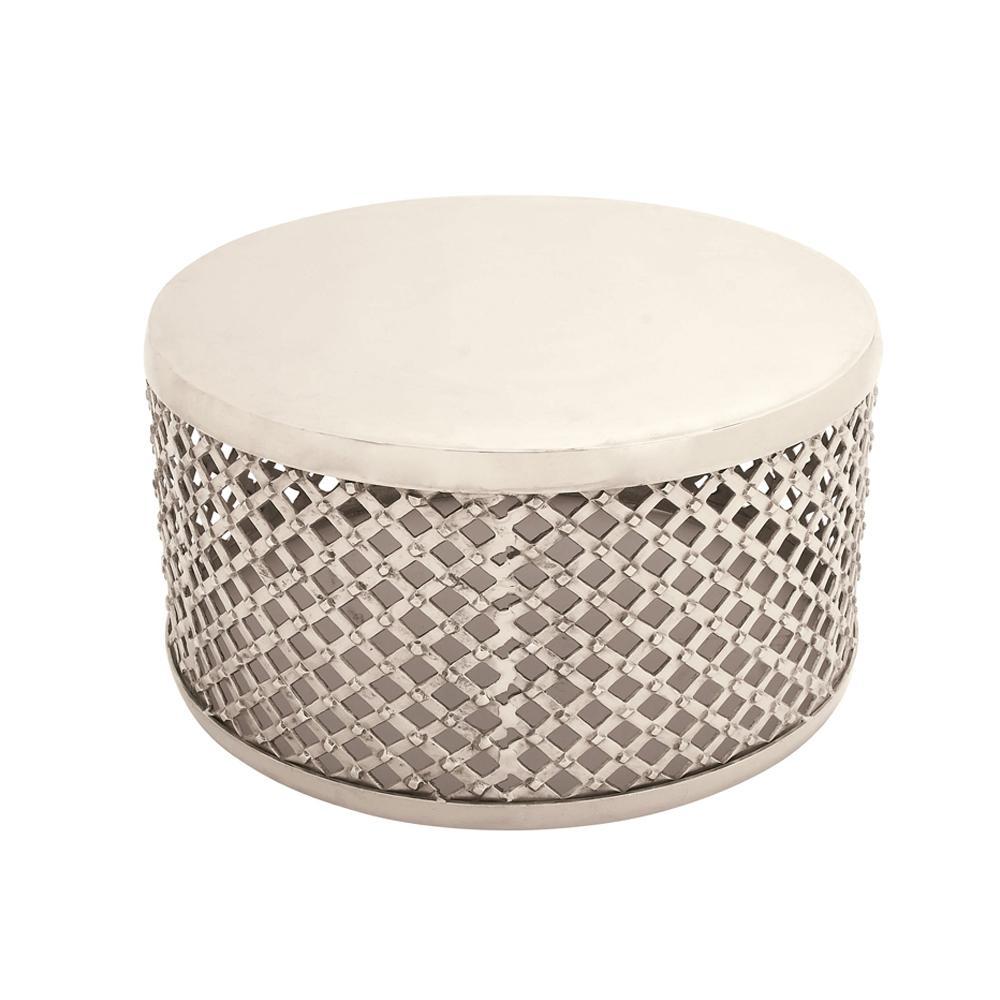 Silver contemporary aluminum lattice coffee table 27487 the home null silver contemporary aluminum lattice coffee table geotapseo Gallery