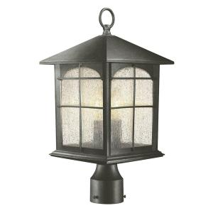 Home Decorators Collection Brimfield 3 Head Aged Iron Outdoor Post