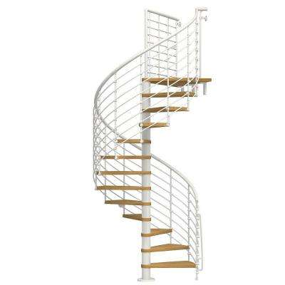 Oak70.Xtra 63 in. White Spiral Staircase Kit
