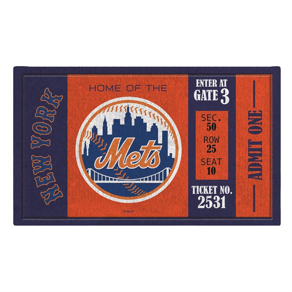 New York Mets 30 in. x 18 in. Vinyl Indoor/Outdoor Turf Floor Mat