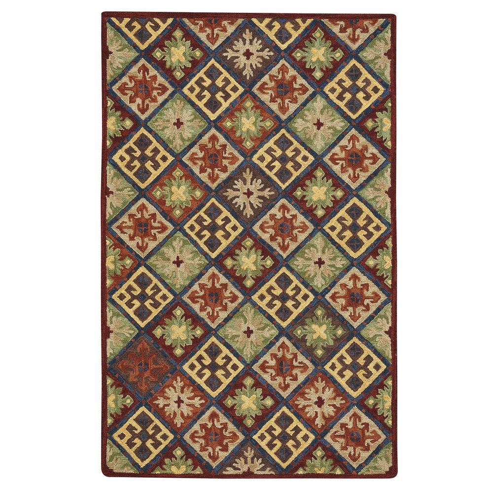 Capel Shakta Quilt Multitone 5 ft. x 8 ft. Area Rug Capel Shakta Quilt Multitone 5 ft. x 8 ft. Area Rug