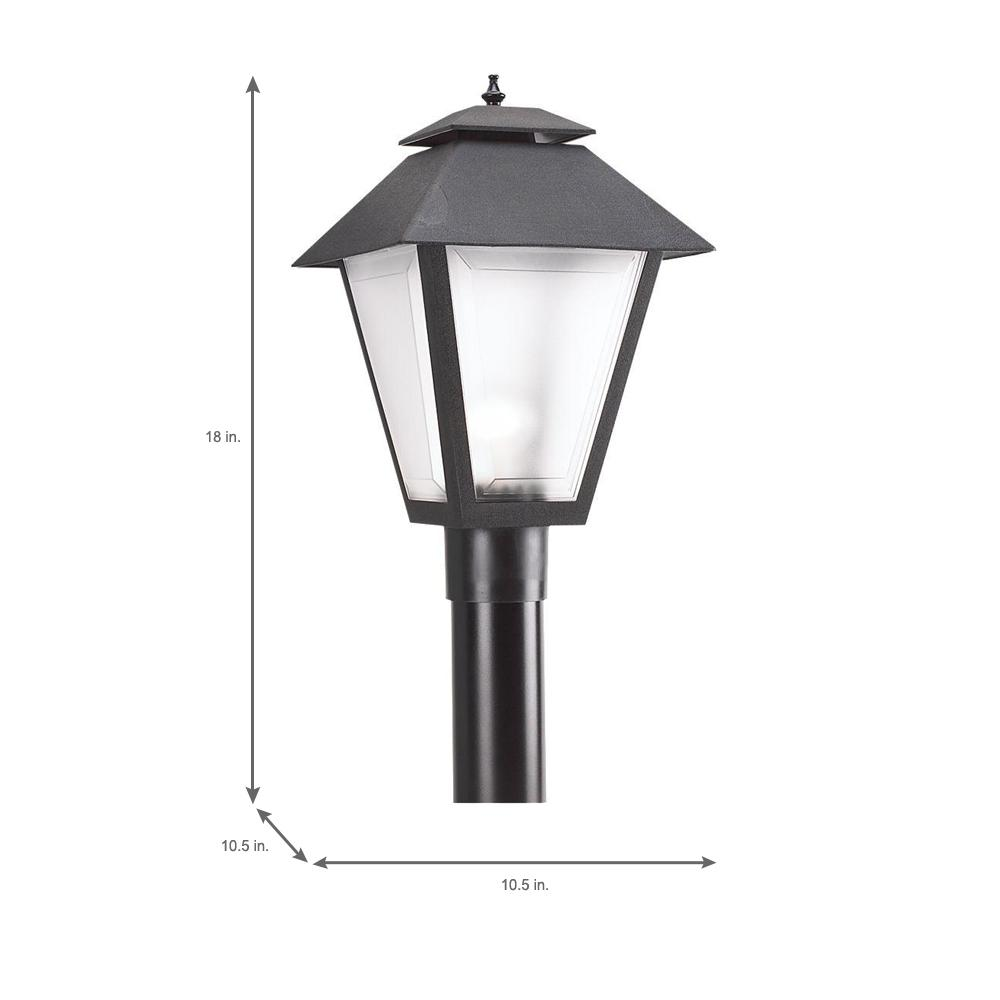 Sea Gull Lighting 82027-12 Outdoor Post Mount with Clear SeededGlass Shades