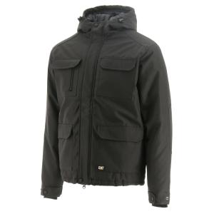 Caterpillar Bedrock Men's Graphite Polyester Oxford Water Resistant Insulated Jacket (Graphite / Black)