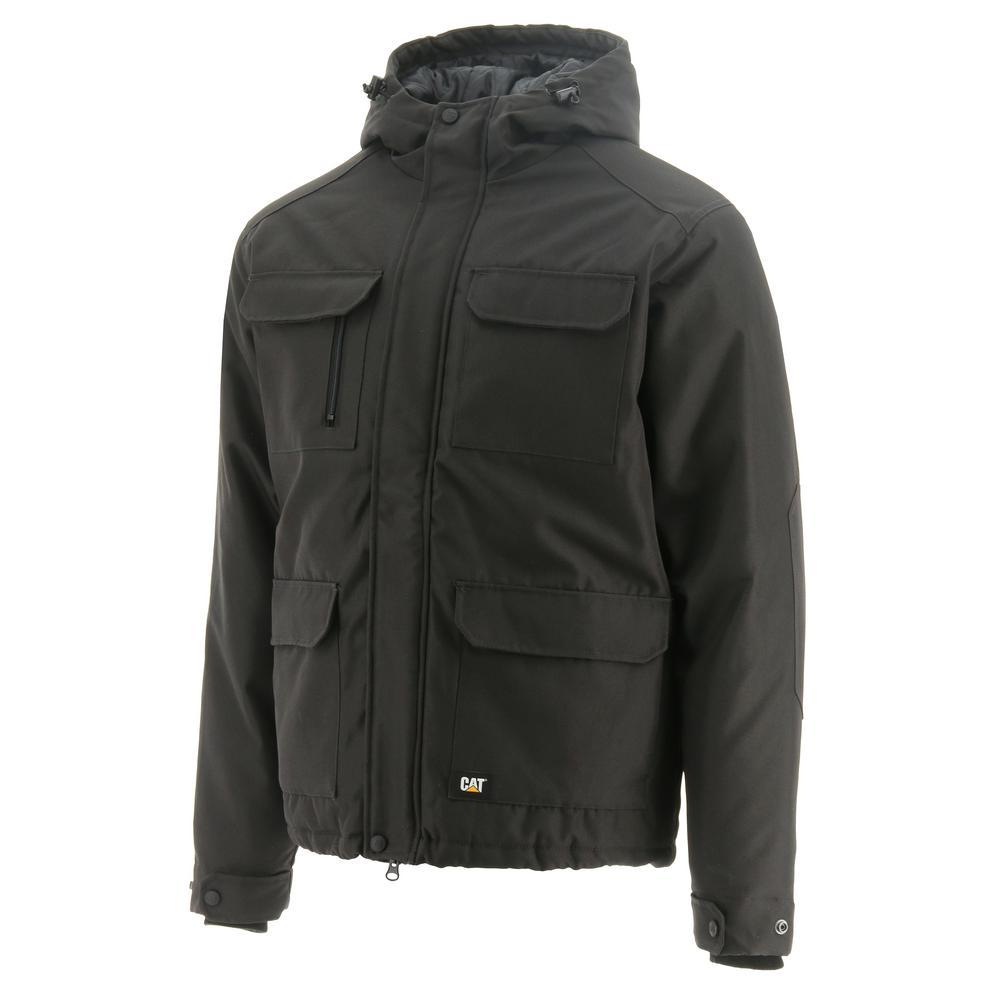 Caterpillar Men's Graphite Polyester Oxford Water Resistant Jacket