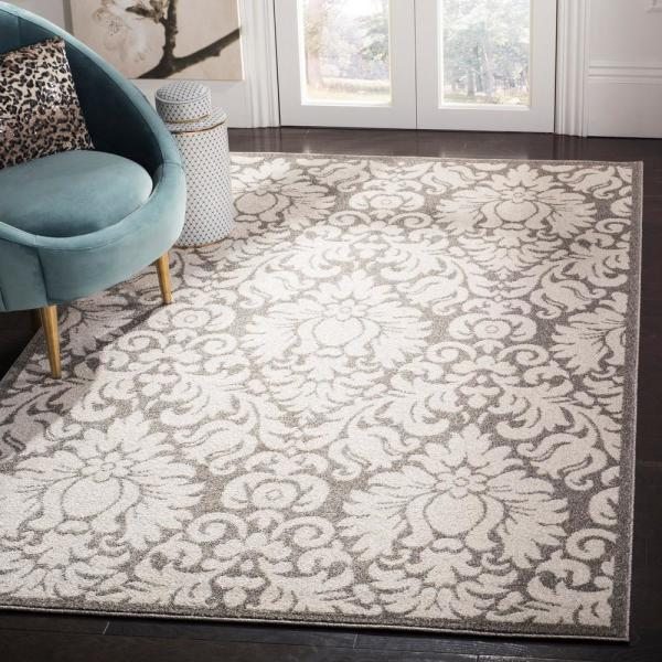 Safavieh Amherst Dark Gray Beige 9 Ft X 12 Ft Area Rug Amt427r 9 The Home Depot