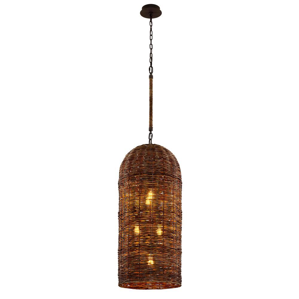 Huxley 5-Light Tidepool Bronze LED Pendant