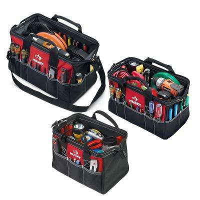 18 in., 15 in. and 12 in. Tool Bag Combo in Red