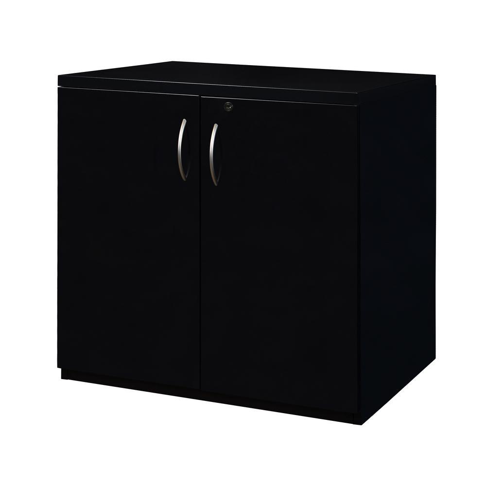 Fusion Black 28 in. x 30 in. Storage Cabinet