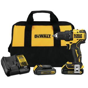 DEWALT Atomic 1/2 in. Drill Driver w/Batteries, Charger & Bag Deals