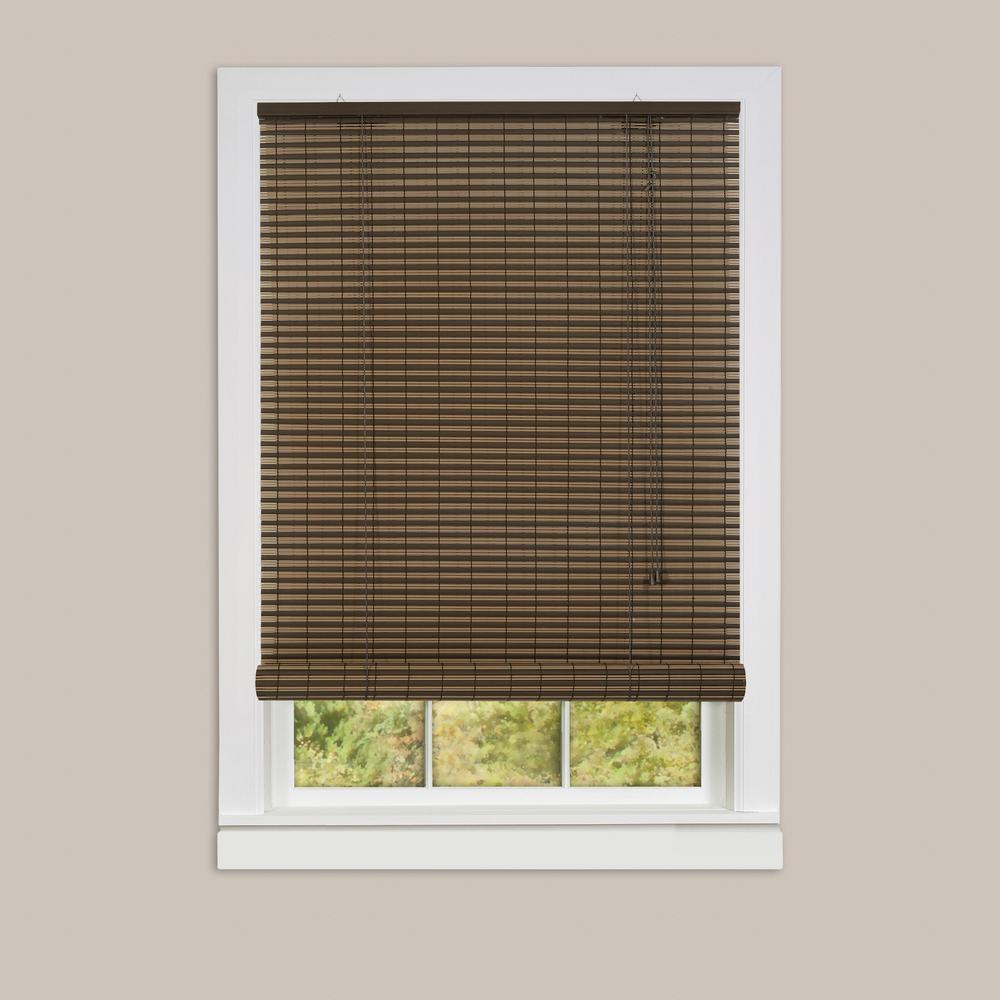 vinyl roll up blinds wooden achim ashland cocoa almond rollup 025 in vinyl blind 36