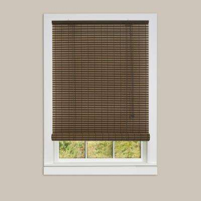 Ashland Cocoa Almond Roll-Up 0.25 in. Vinyl Blind - 72 in. W x 72 in. L