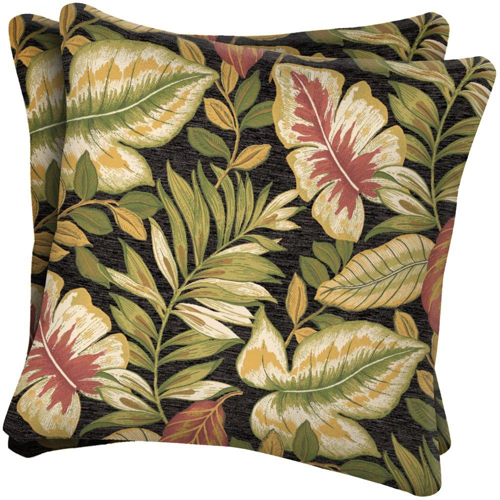 Arden Twilight Tropical Outdoor Throw Pillow (2-Pack)-DISCONTINUED