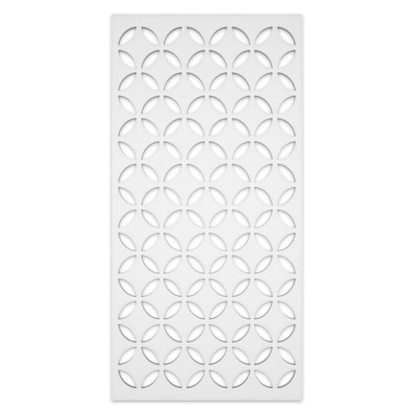 Capital 2 ft. x 4 ft. White Vinyl Decorative Screen Panel (Pack of 2)