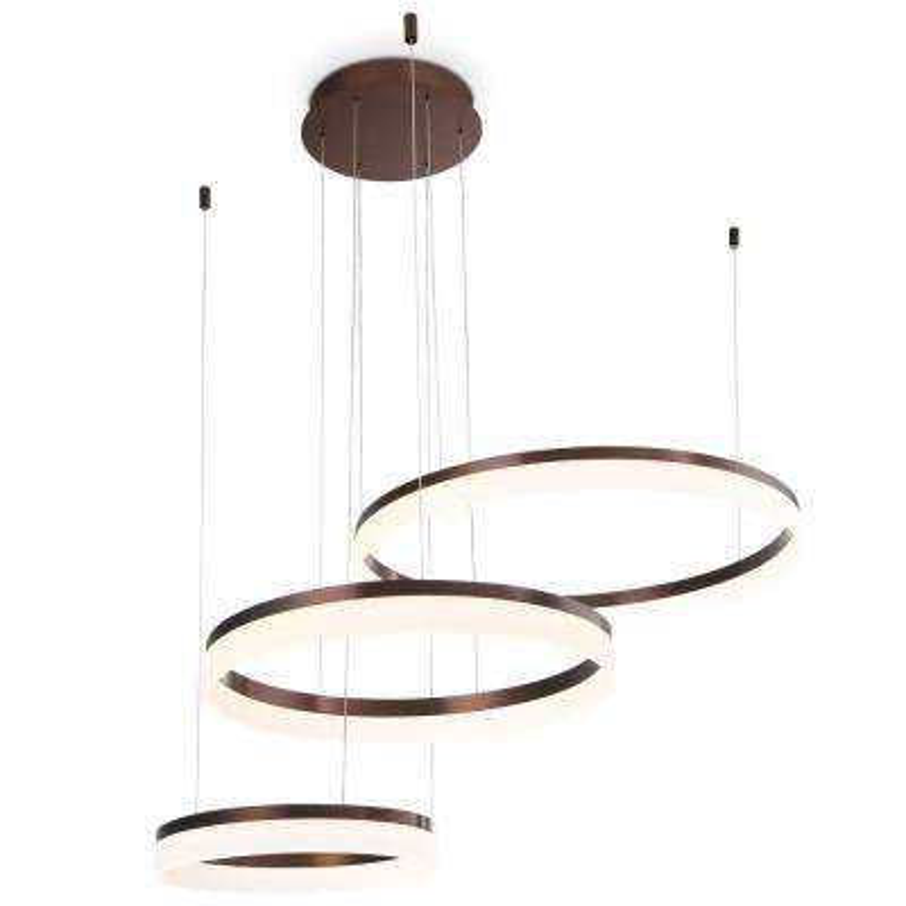 Minuta collection 106 watt bronze integrated led chandelier