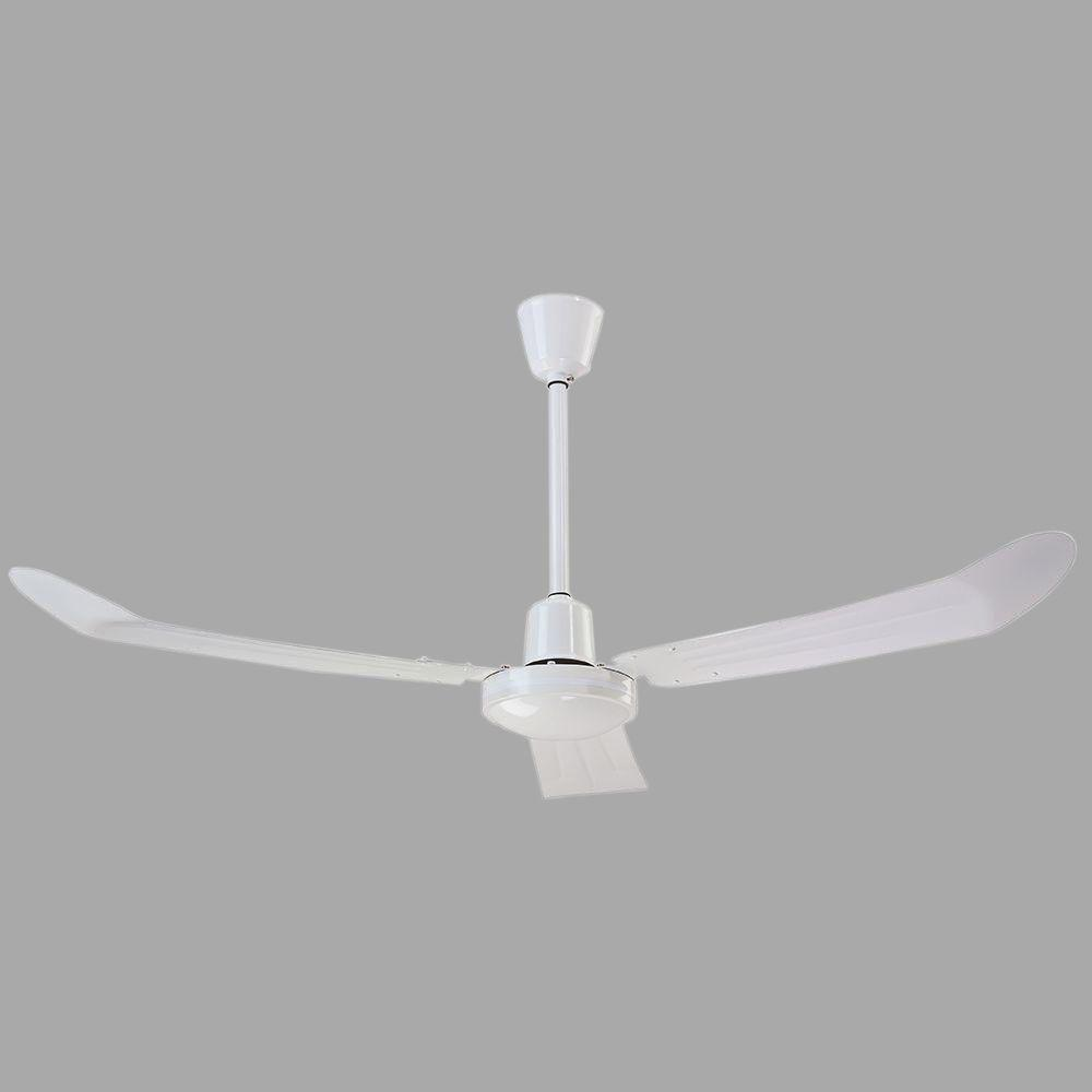 Industrial 56 in. Loose Wire White Ceiling Fan with 36 in.