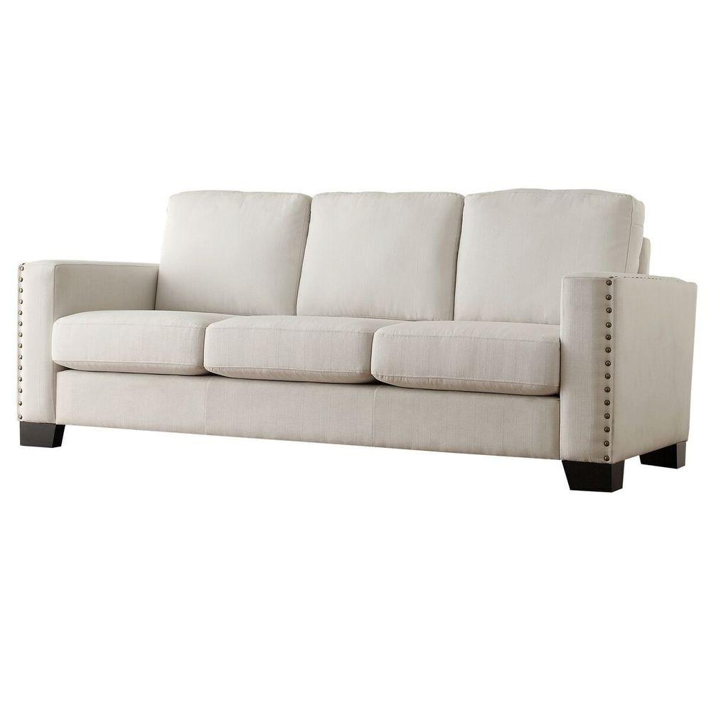 Merveilleux HomeSullivan Octavia White Linen Sofa