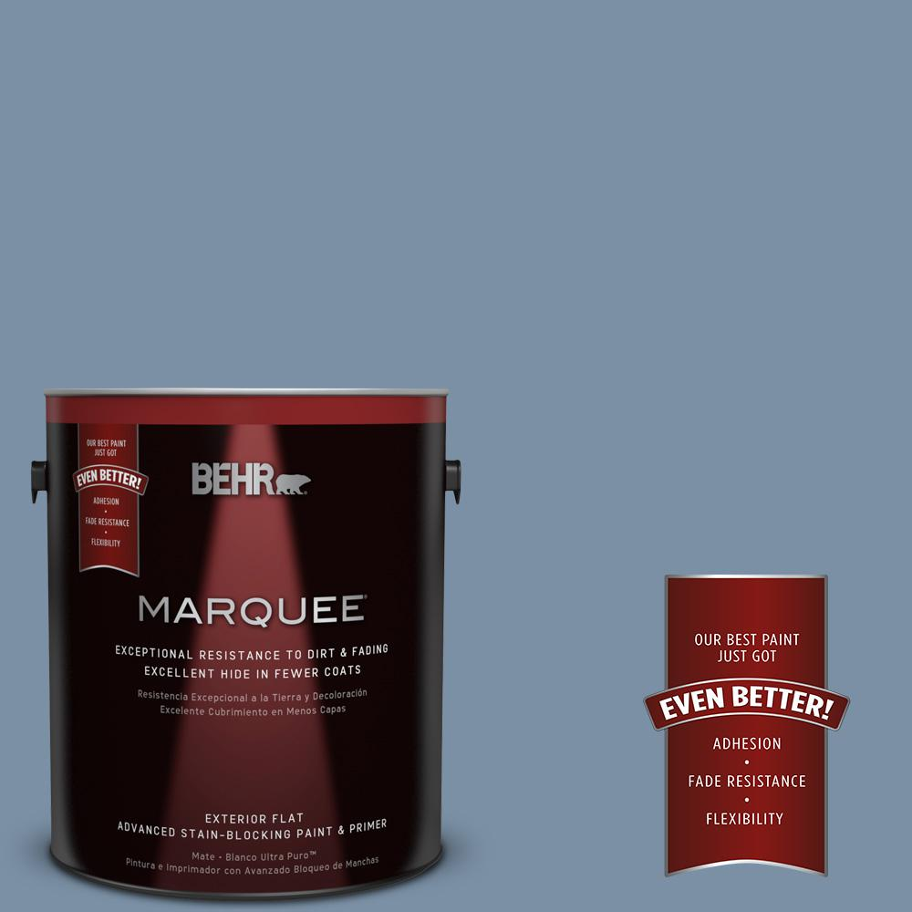 BEHR MARQUEE 1-gal. #S510-4 Jean Jacket Blue Flat Exterior Paint
