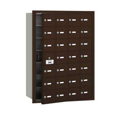 3600 Series Bronze Private Front Loading 4B Plus Horizontal Mailbox with 28A Doors (27 Usable)