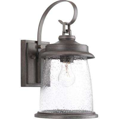 Conover collection 1 light antique pewter outdoor wall mount lantern