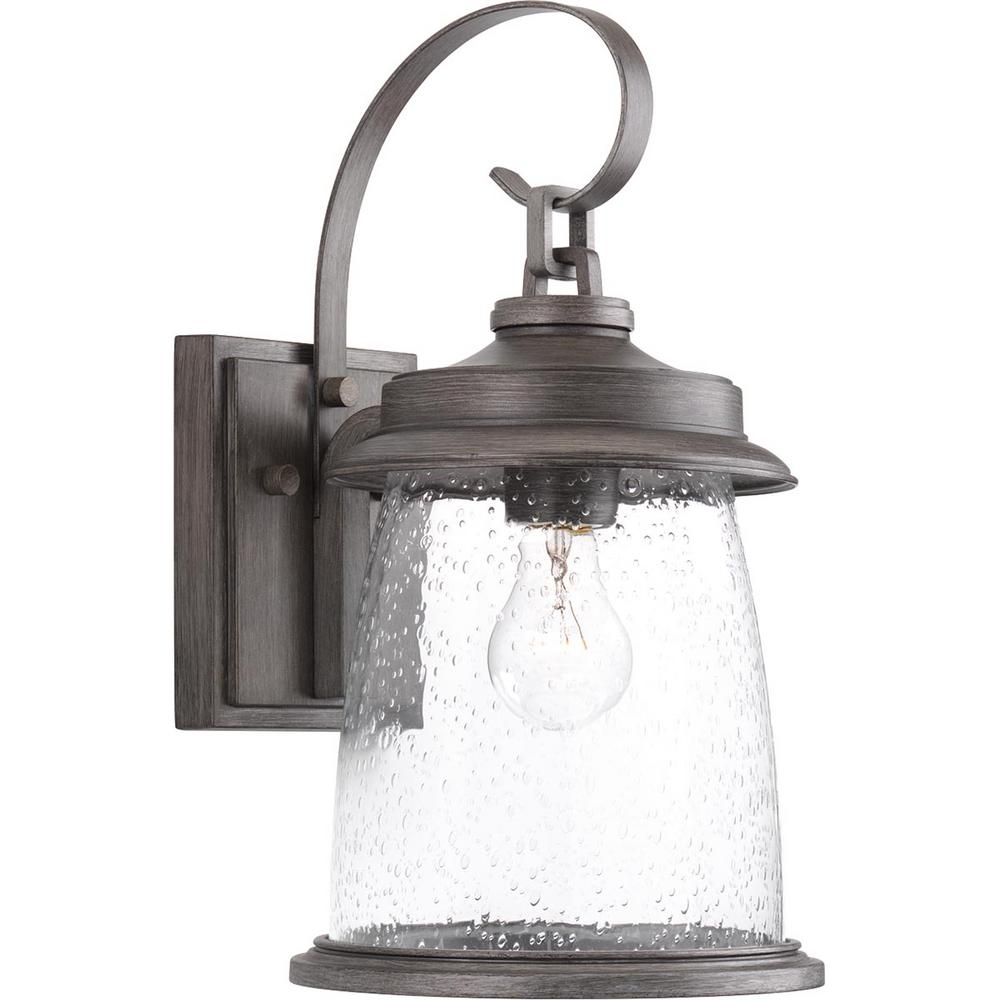 Progress Lighting Conover Collection 1 Light Antique Pewter 16 In Outdoor Wall Lantern Sconce