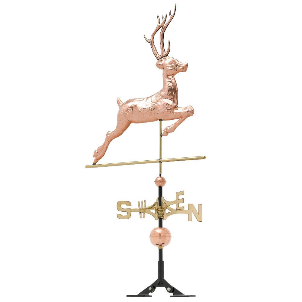 48 in. Polished Deer Copper Weathervane