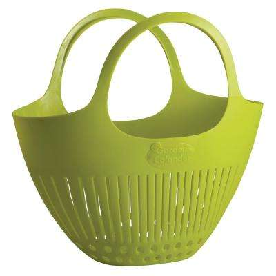 Garden Colander Harvest Basket in Green