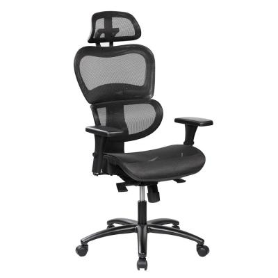 Black Mesh High Back Executive Office Chair with Neck Support