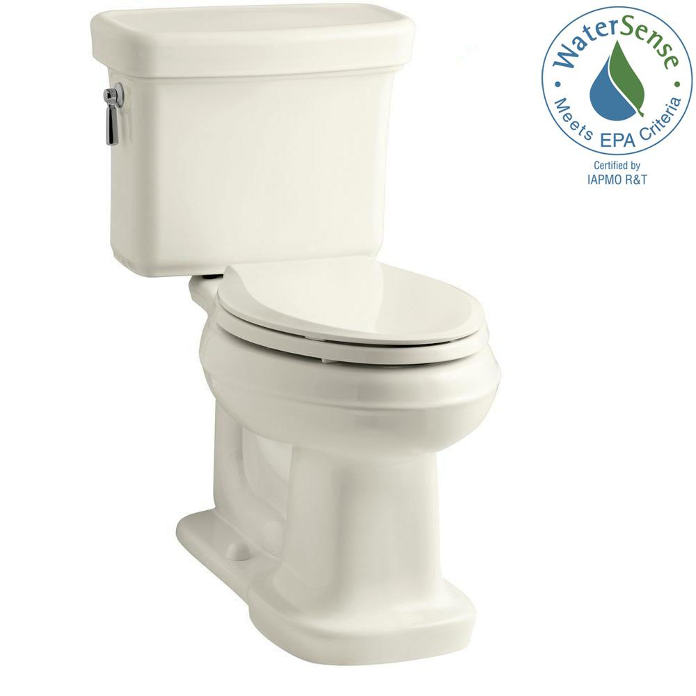 Bancroft 2-Piece 1.28 GPF Single Flush Elongated Toilet with AquaPiston Flush