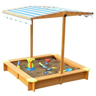 3.83 ft. x 3.83 ft. x 3.83 ft. Sandbox with Canopy